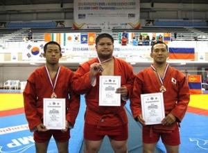 柔道整復学科2年生 鳥居智男さん アジアサンボ選手権大会 3位入賞