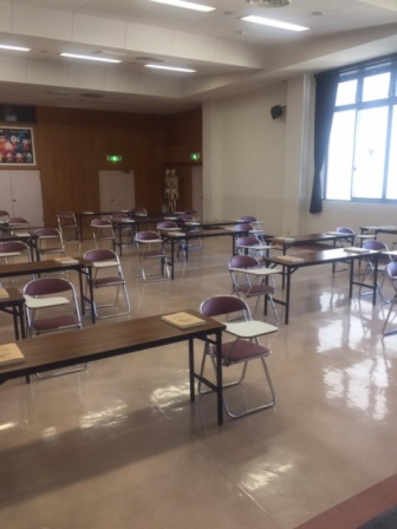 広い空間での教室,そして広いソーシャルディスタンス